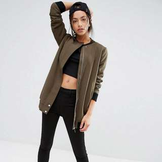 Longline Bomber - New Look