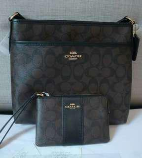 Coach File Bag and Wrislet Wallet