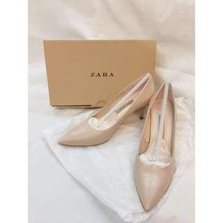 👠 Zara 尖頭高踭鞋 棵色 Nude pointed toe high heels