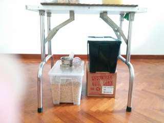 Grooming Table stainless steel