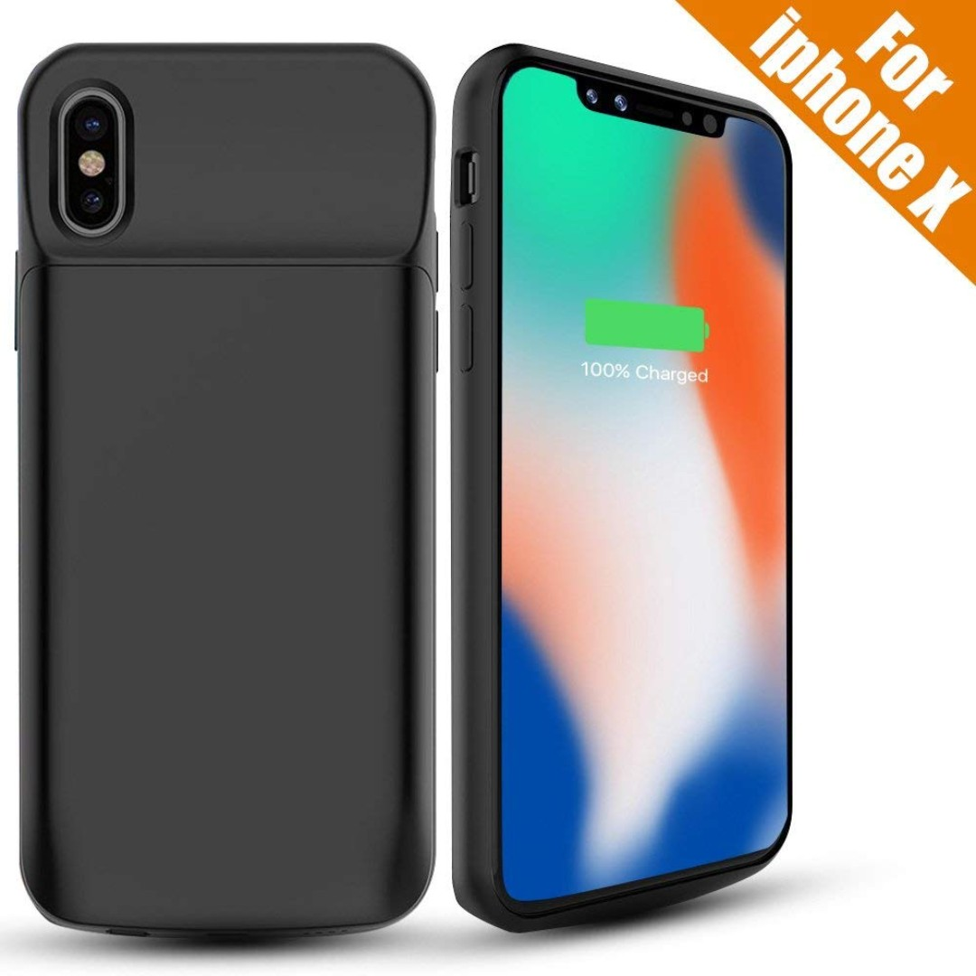 sports shoes 622ea 9c962 1218. iPhone X Battery Case, 6000mAh External Battery Charger Case  Rechargeable Portable Charging Case for Apple iPhone X/iPhone 10 (5.8-inch)  ...