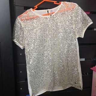 Party Blouse with Sequins