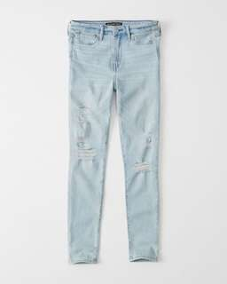 🚚 Abercrombie & Fitch High Rise Super Skinny Jeans