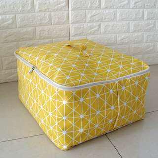 清新帆布衣物 棉被收納袋 行李袋