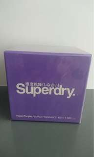 Superdry Neon Purple Female Fragrance 40ml Made in France 全新未拆