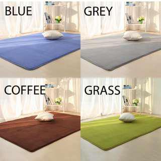INSTOCK  Large Blue coral fleece soft carpet