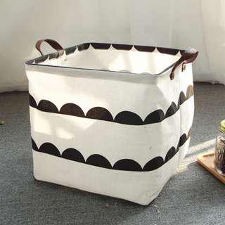 北歐藝文置物籃 防水防塵萬用收納桶