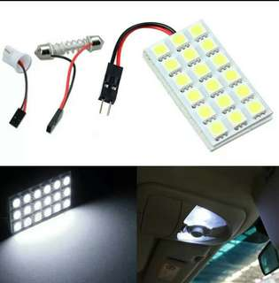 🚚 Auto 18 SMD 5050 LED T10 BA9S Dome Festoon Car Interior Light Panel Lamp 12V Dec08