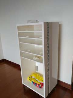 Open cabinet solid wood