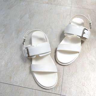 🚚 雙帶釦環皮質涼鞋 羅馬鞋 涼拖鞋
