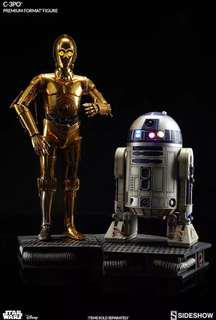 Sideshow - Star Wars Collectibles - C-3PO & R2-D2 Premium Format Statue Set