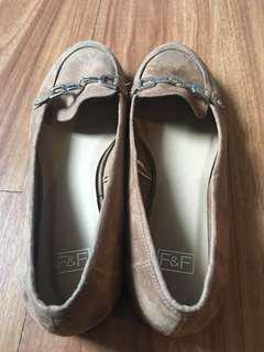 ❗️SALE❗️[USED ONCE] F&F Brown Suede Women's Loafers