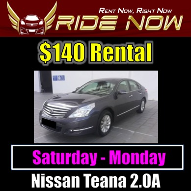 140 nissan teana 2 0a 28 jul 30 jul rental cars vehicle rentals rh sg carousell com