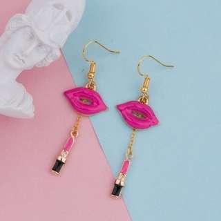 Pink Lippie Earrings