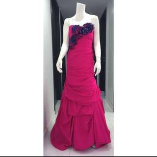 Evening organza mermaid dress wedding dinner