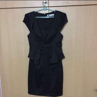 TEMT Oxford black corporate dress