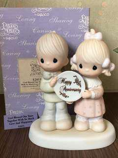 """MIB Precious Moments Figurine """"God Blessed our Years Together with so much Love & Happiness""""  #E2853"""