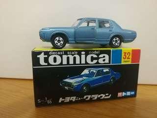 全新絕版tomica 黑黃盒 toyota new crown