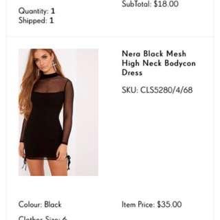 PLT MESH DRESS