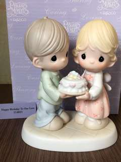 "MIB Precious Moments Figurine ""Happy Birthday to Our Love"" #114021"