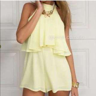 Xenia Yellow Playsuit Romper