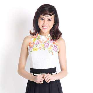 Lilypirates Bountiful Blessings Top In White cheongsam