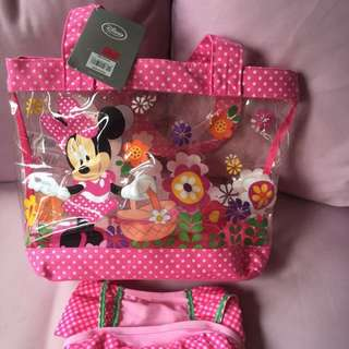 BNWT Authentic Disney Minnie Tote Beach Bag