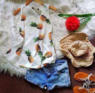 [2 for 500]D&G Pineapple Print Tank Top