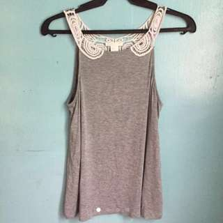 [2 for 350]H&M Gray Fancy Tank Top