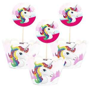 Unicorn Cupcake Toppers+Wrappers