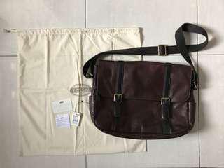 Fossil Men Messenger Bag Estate EW Dark Brown