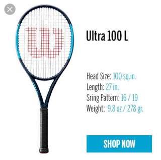 BN Wilson Ultra 100L tennis racquet