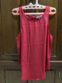 tank top merah with zipper
