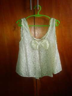 Lace top baby yellow