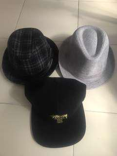 Stussy caps and other fashion hats