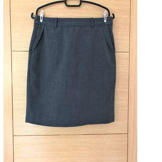 Executive Work Skirt (Grey)