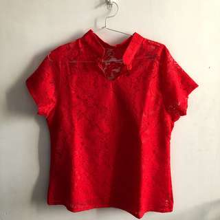 Red CNY Vibes Top