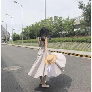 全新復古格紋洋裝
