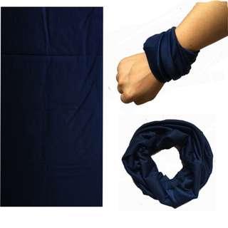 Multi Scarf HS-P02 - Plain Color Dark Blue