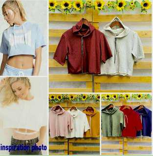 Crop top hoodie (Two for 260php)