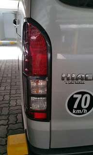 Toyota Hiace SGL tail lights cover ( carbon )