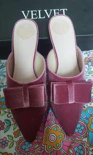 Velvet Bow shoes size 9