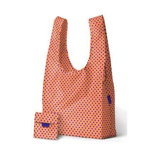 Handy Medium Size Bag In Pouch Tote Bag in Neon Orange Polkadot / Neon Yellow