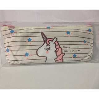 Unicorn Pencil Case / Pouch with Free 1 piece Unicorn Gel Pen