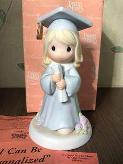 "MIB personalised Precious Moments Figurine ""The Lord is the Hope of Our Future"" #262564L"