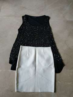 Sole mio top 1x pakai , free skirt free size