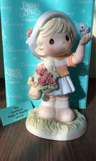 "MIB birthday flower Precious Moments Figurine ""May: Hawthorn Bright & Hopeful"" #101520"