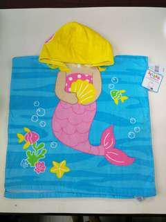 Mermaid hoodie towel