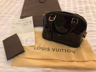Authentic Louis Vuitton Alma BB Amarante
