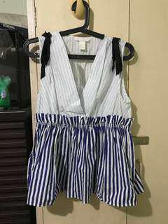 Blouse (white with blue stripes)